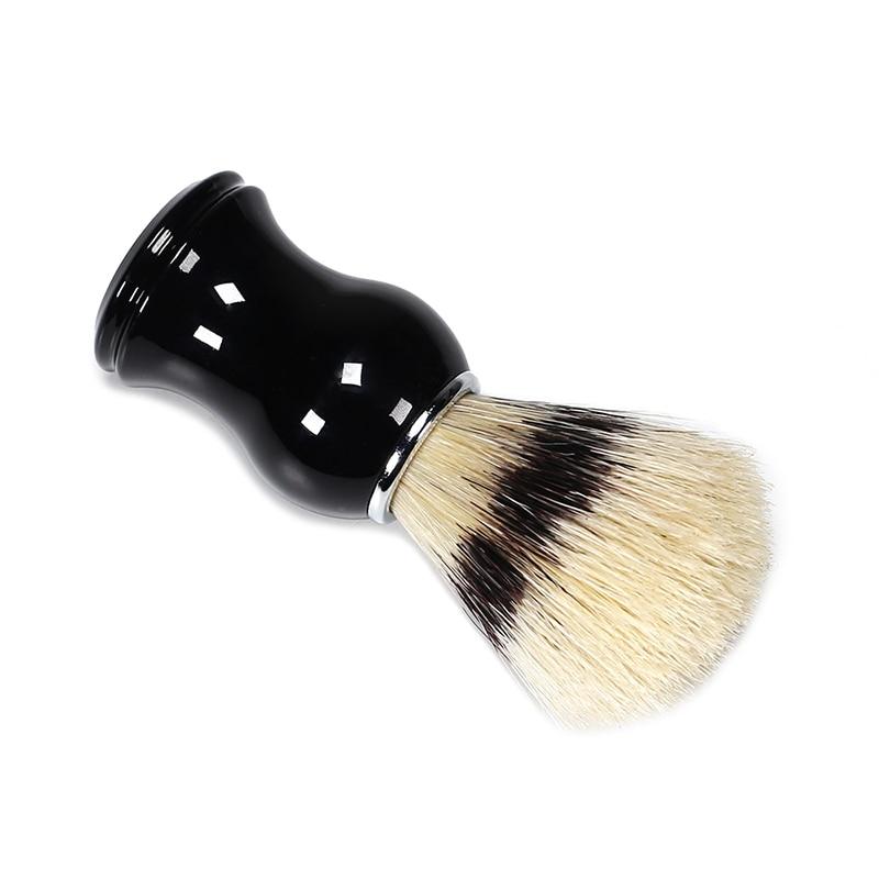 Hombres barba peine suave bolsillo tamaño cepillo barba cerdas peluquero limpiador cepillo bolsillo barba limpiador para peines cepillo