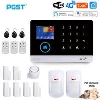 PGST     systeme dalarme de securite sans fil PG103  wi-fi  4G  Tuya  avec capteur de mouvement  camera IP  prise ue  compatible Alexa