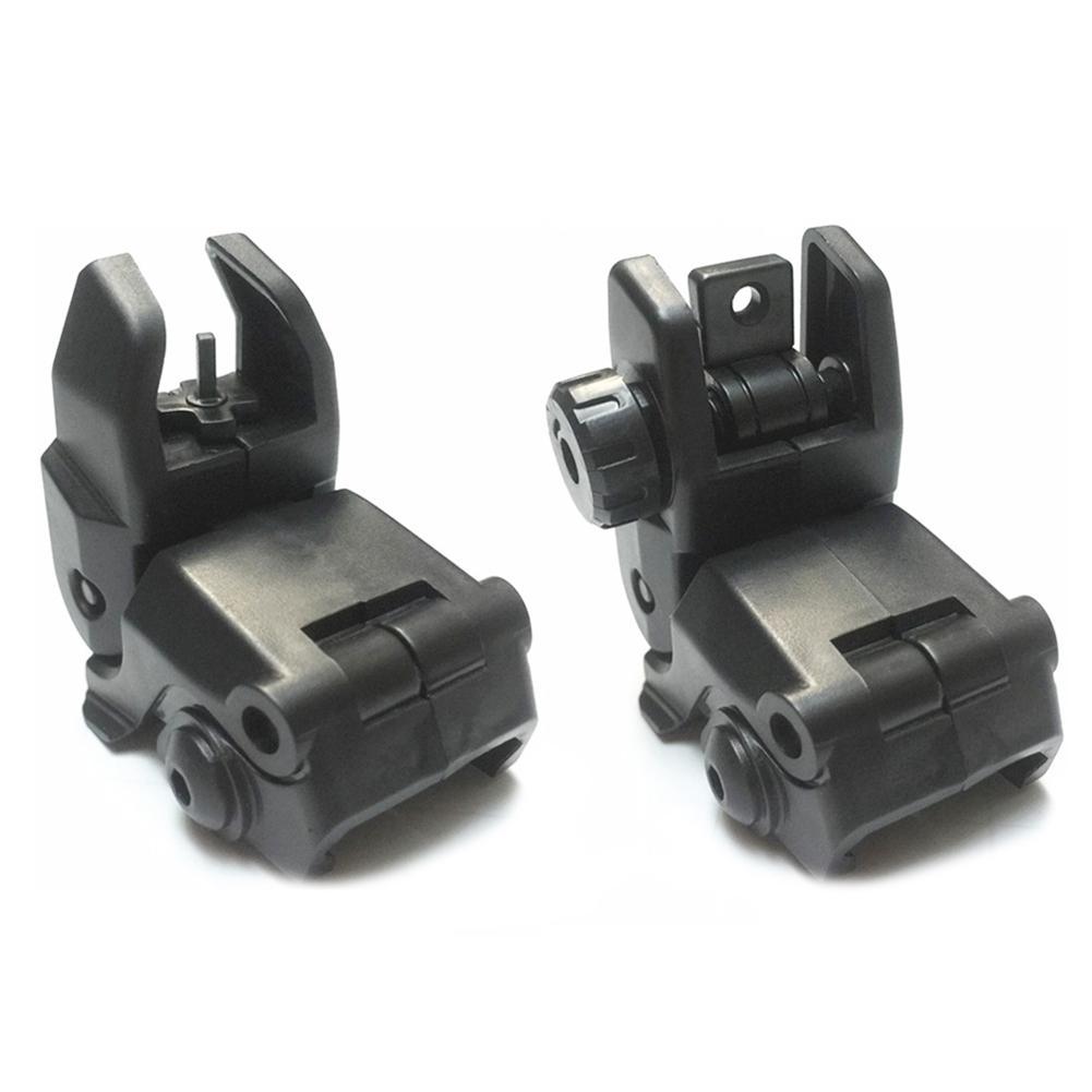 2 uds. Equipo de brazos militares tácticos GEN 1 Conjunto de visión de respaldo delantero y trasero Tan o negro, AR 15 AR15 Desplazamiento de respaldo de transición rápida