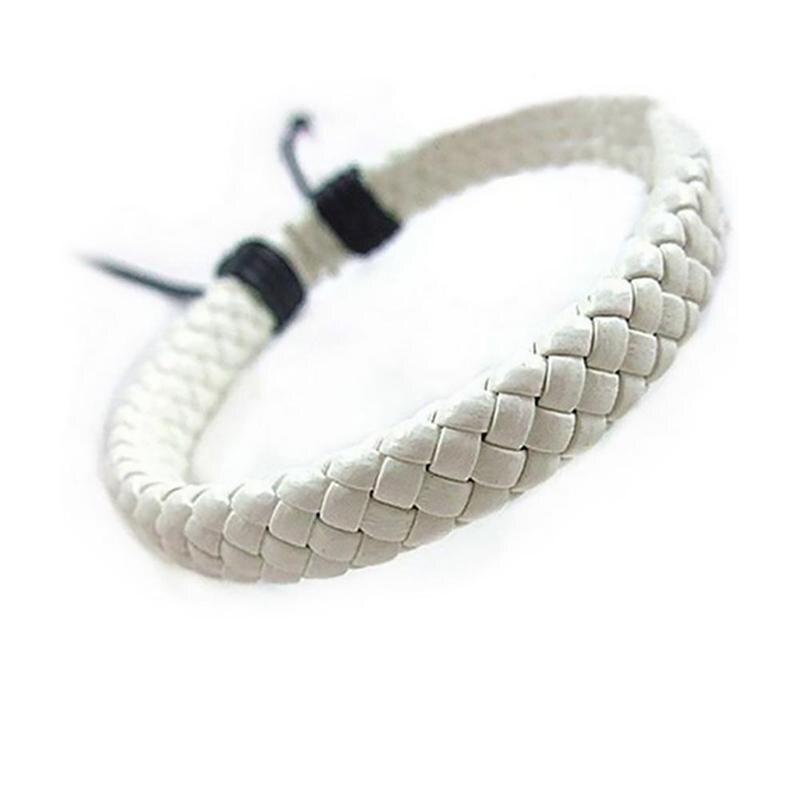 Black simple multi-color optional hand-woven cowhide fashion bracelet Tibetan jewelry K6H4