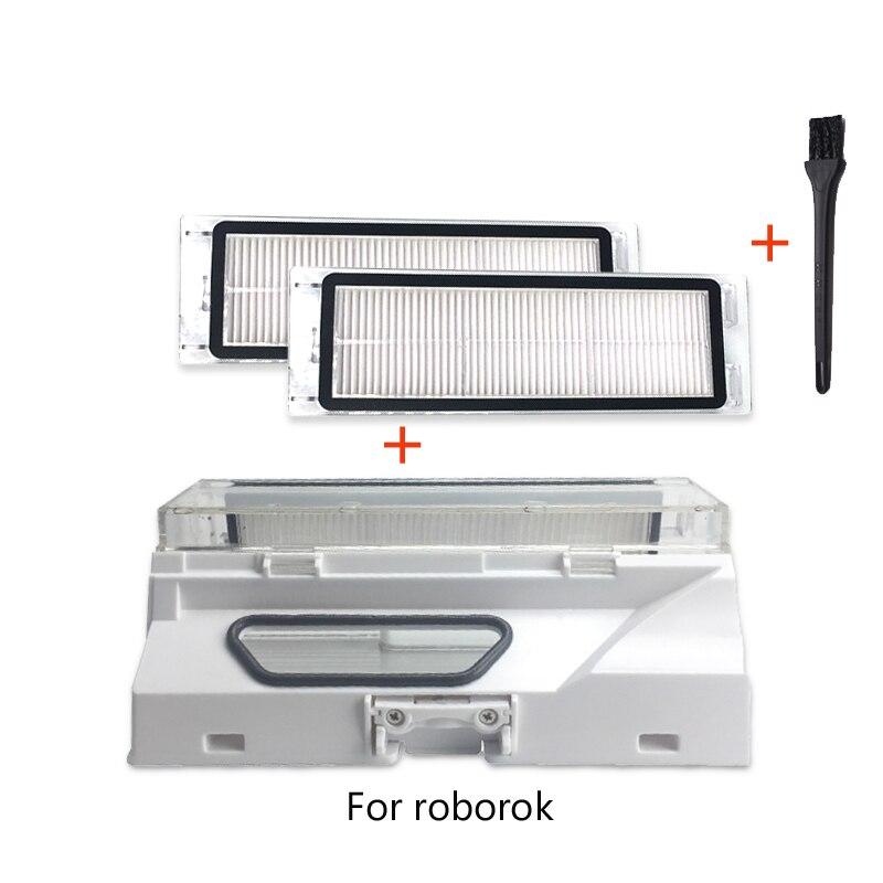 Vacuum cleaner accessories dust box for xiaomi mijia mi 1S 2S C10 roborock S50 S55 S52 sweep robot home hepa filter spare parts