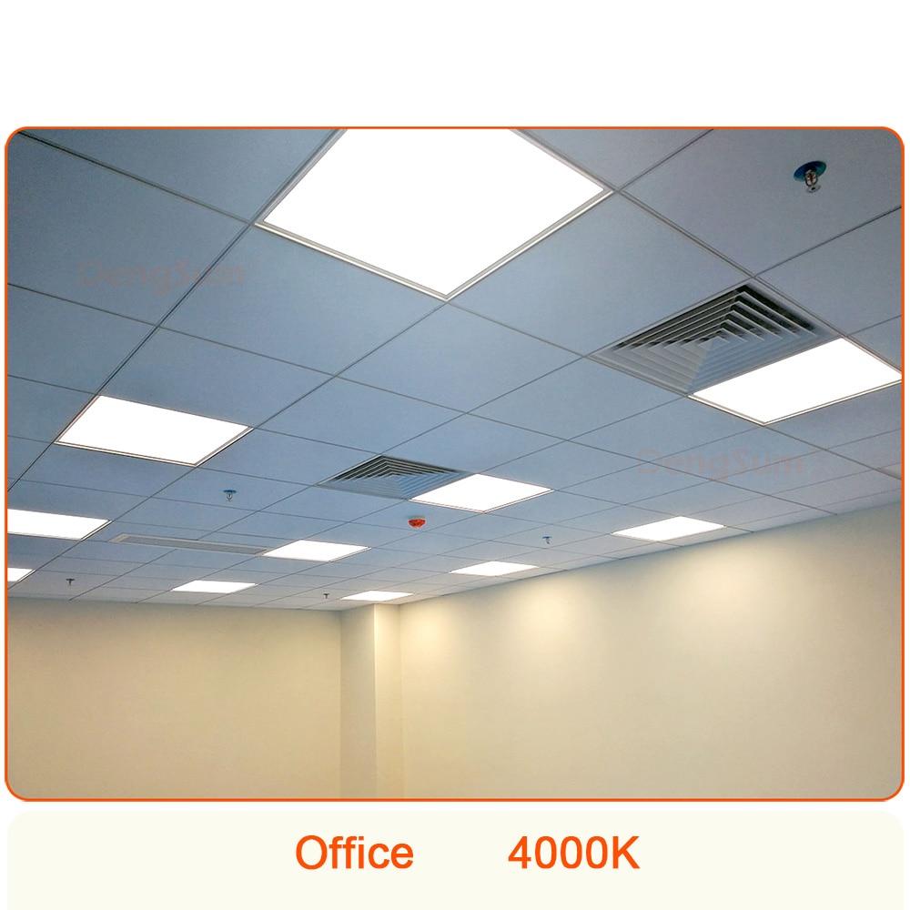595x595 مللي متر LED لوحة ضوء 595*595 مللي متر الجبس مجلس السقف مصباح Lifud سائق 2x2 فدان-القدم 600*600 600x600 مللي متر مكتب الإضاءة
