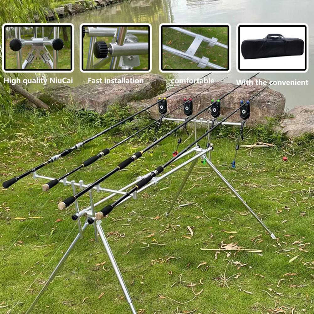 Fishing Rod Rack Quick Fold Universal Adjustable Aluminum Alloy Fish Pole Holder Locker for Carp Fishing Rod Bracket Accessories enlarge