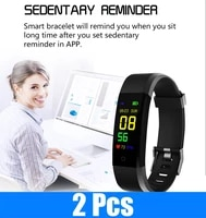 2pclot 115plus fitness bracelet smart watch for android ios sport pedometer waterproof smartwatch fitpro sleeping monitor watch