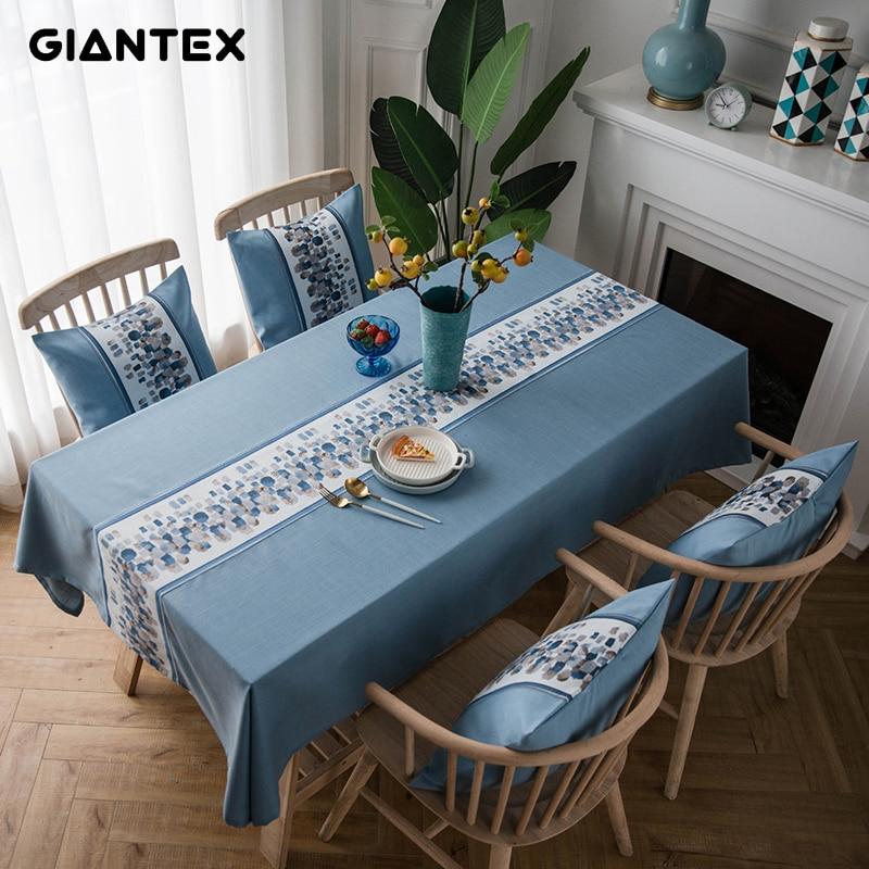 GIANTEX, mantel decorativo de tela para mesa, manteles rectangulares, mantel de mesa de comedor, mantel de mesa Obrus Tafelkleed, nappe U2097