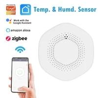 Tuya Zigbee     capteur dalarme de temperature et dhumidite 3 0  lien de controle intelligent avec application pour toute la maison  fonctionne avec Alexa Google Home