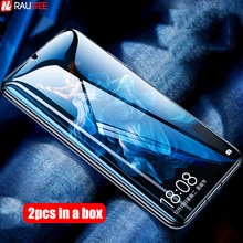 2 adet cam Xiaomi Mi A3 CC9 temperli cam 9H tam tutkal ekran koruyucu Film için Xiaomi Mi a3 A2 Lite Mi9 Lite küresel cam