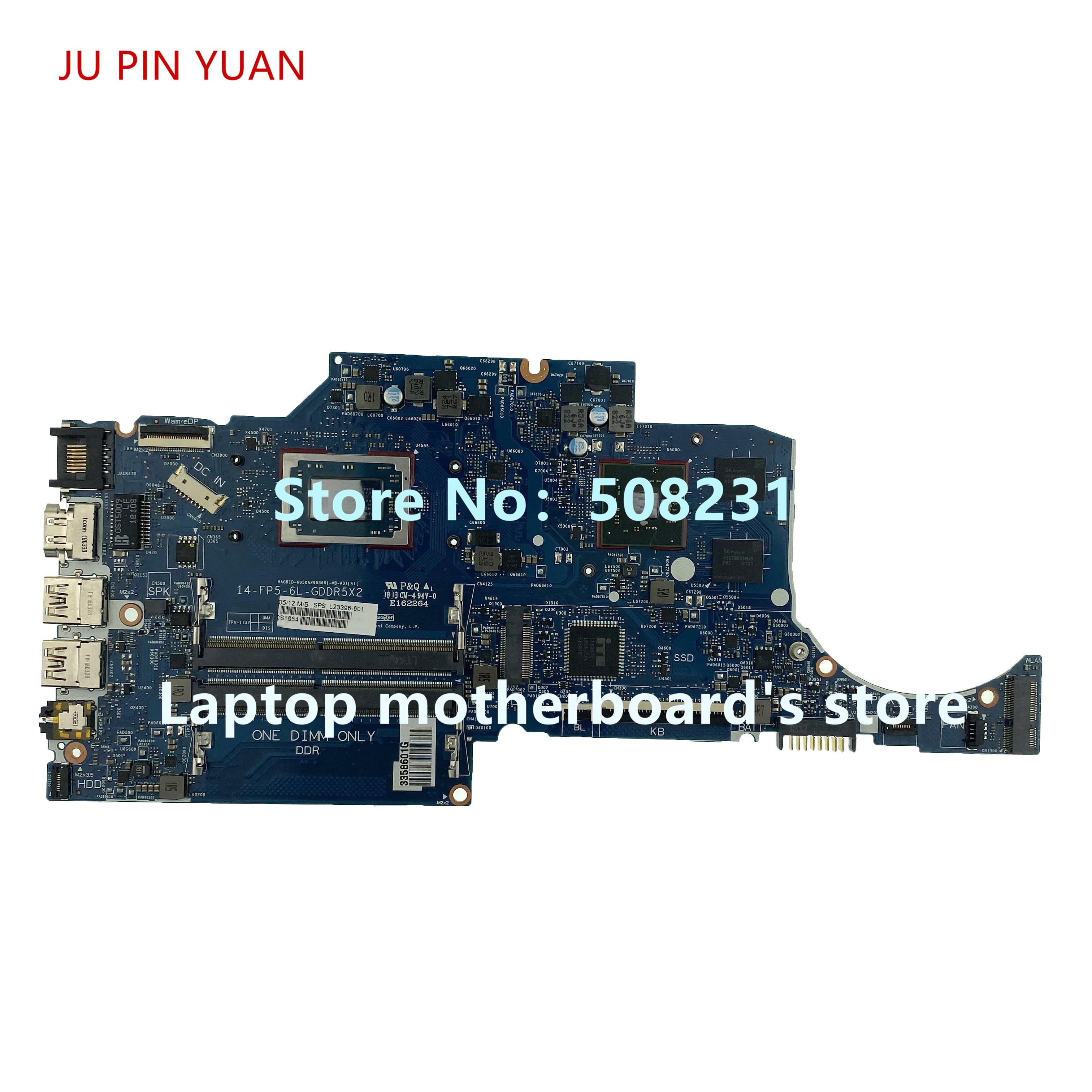 Ju pino yuan L23396-001 L23396-601 para hp 14-c 14q-c 14-cm placa-mãe do portátil com 520 2 gb ryzen3 2200u cpu 100% totalmente teste