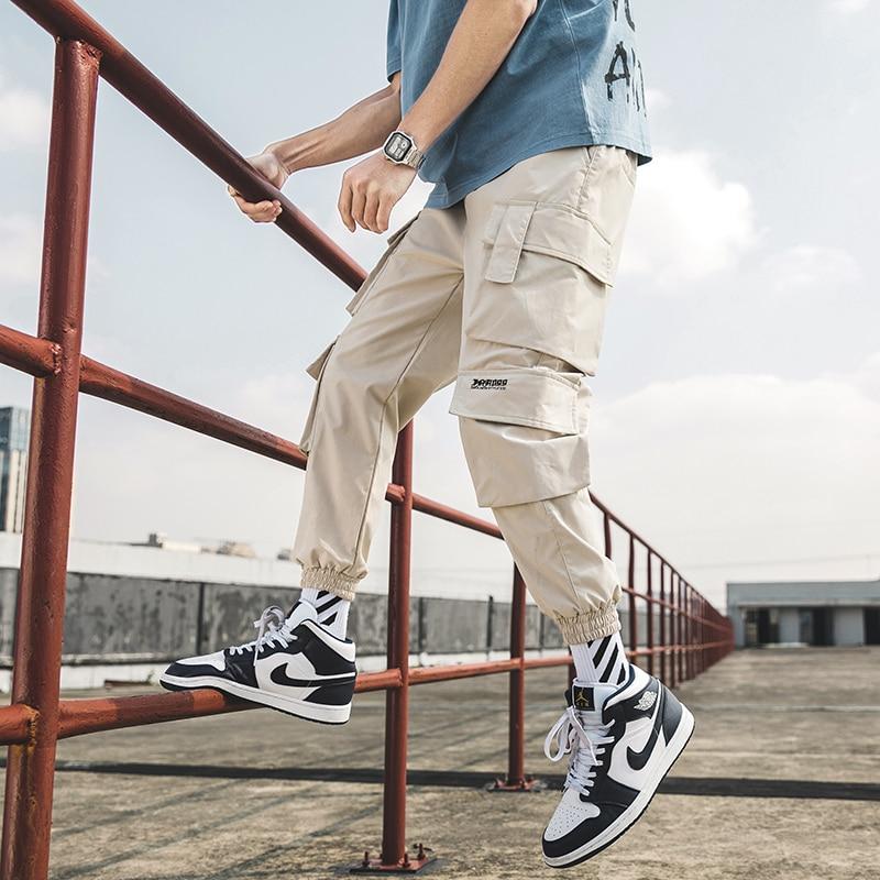 Уличная Для мужчин s в стиле «хип-хоп» для бега Штаны Повседневное Для мужчин брюки больших Размеры свободные впитывает пот и Штаны мужской ...