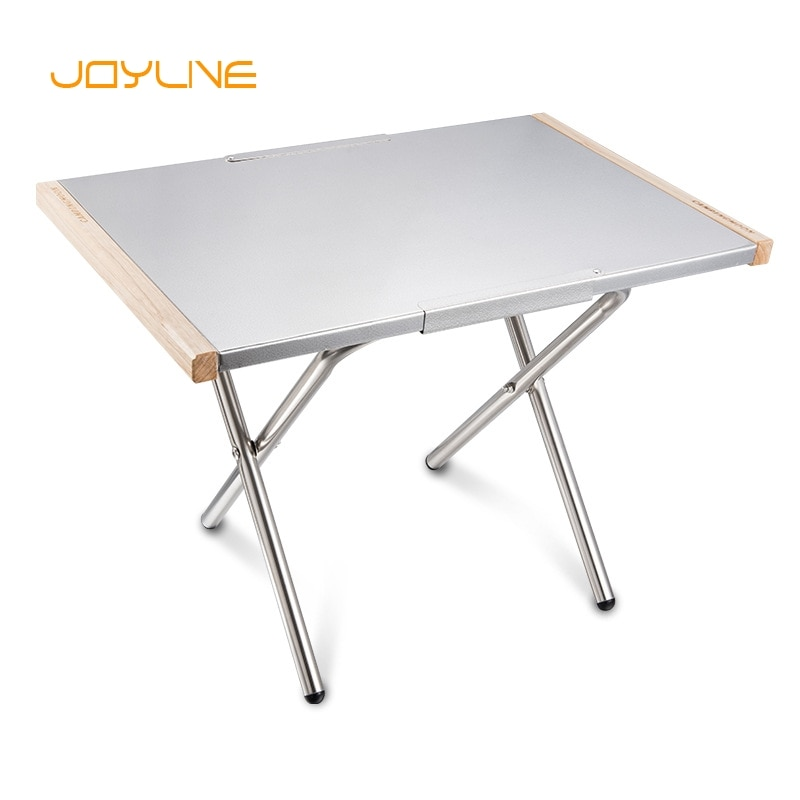JOYLIVE Portable Small Steel Table Outdoor Storage Tea Picnic Barbecue Camping Cooking Folding