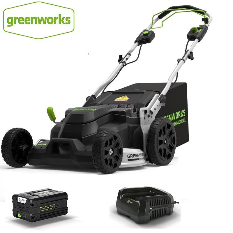 Greenworks حديقة جزازة العشب بطارية ليثيوم الكهربائية دفع من نوع العشب Weeder جامع 82 فولت 1000 واط مهنة حديقة أدوات