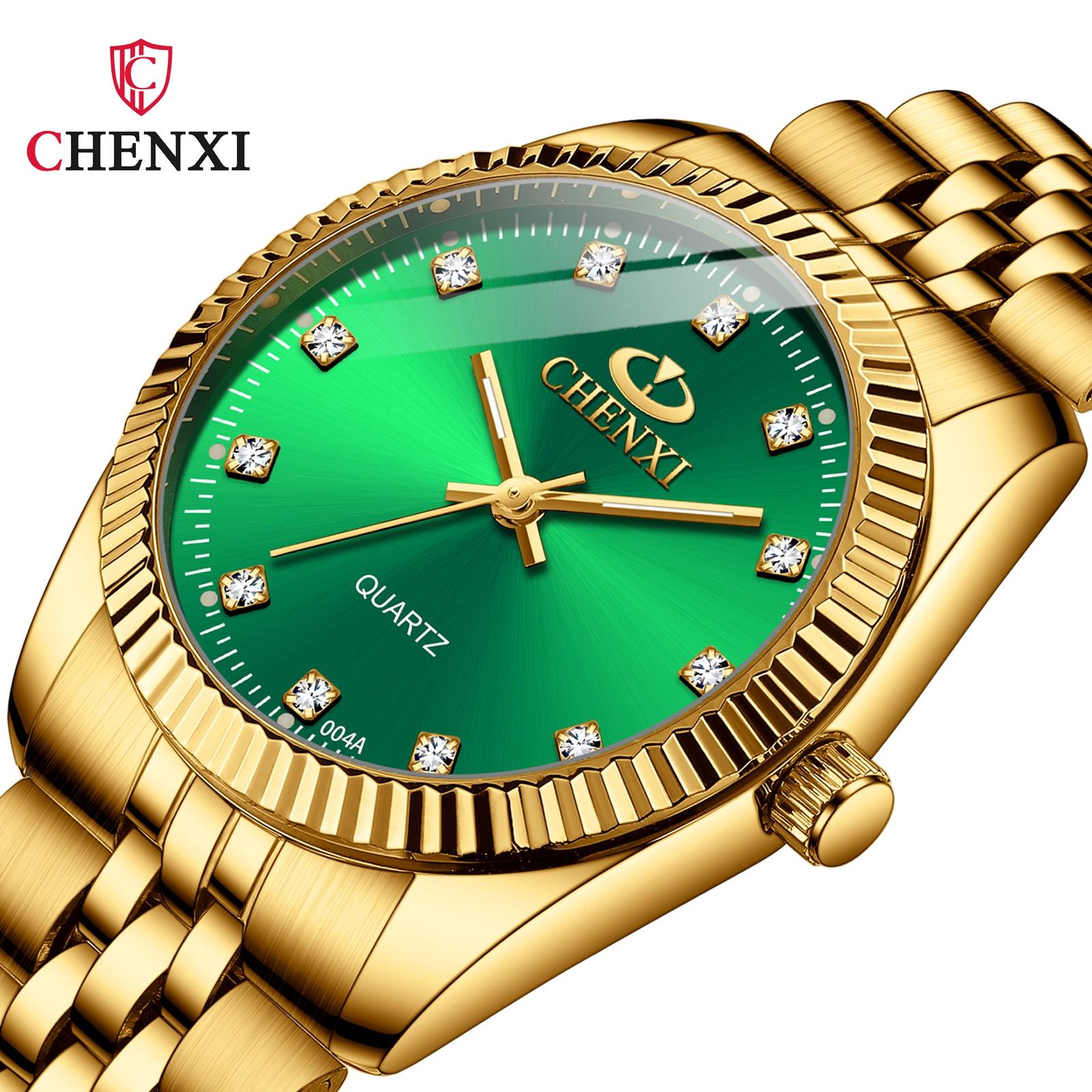 CHENXI Men Gold Watch Male Stainless Steel Quartz Golden men's Wristwatches for Man Top Brand Luxury