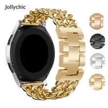 Bracelet en acier inoxydable pour Samsung Galaxy gear s3 denim chaîne en acier pour huami pace huawei gt honour montre bracelet magique