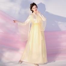 Traditional Chinese clothing Knight errant costume guzheng dance costume film and television drama improved Hanfu women skirt