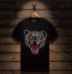 T Shirt  Hot drill T-shirt Men Tshirt  Tops Tee Diamonds store tShirt new 2020 design