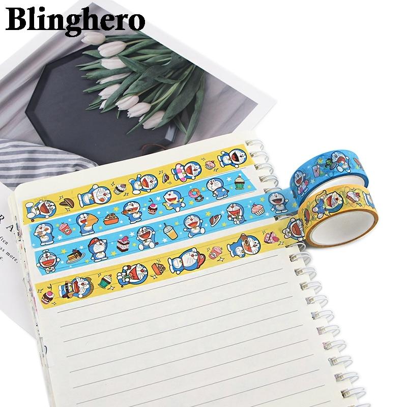 CA600 1.5cm x 5m Cute Cat Kawaii Washi Tape Set Japanese Paper Masking Tape Tapes Stickers Decor Stationery Tape Scrapbooking