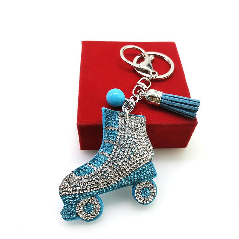 YD & YDBZ Новый коньки кулон брелки милый синий розовый фиолетовый брелок модные аксессуары для сумки автомобильный брелок Подарочный на день рождение брелок