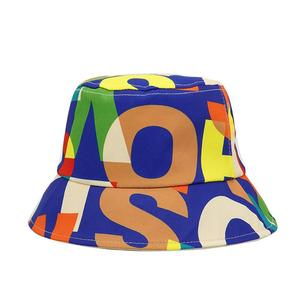 2021 Cotton four seasons Colorful Letter Bucket Hat Fisherman Hat Outdoor Travel Sun Cap for Men and Women 404