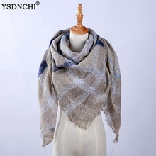 Mantón largo chal manta carf mujer tartán invierno bufanda señoras bufandas capa espesante cálido Pashmina Wrap mujer chales