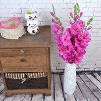 Bouquet de fleurs artificielles en Simulation de Gladiolus  1 piece  realiste  8 couleurs  Arrangement de Table  pour un mariage  nouvelle collection 2020
