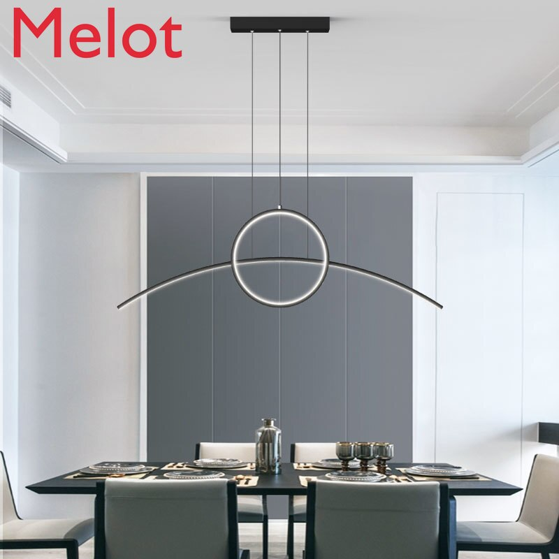 Dining-Room Lamp Modern Minimalist Dining Table Lamp Creative Personality Restaurant Chandelier Bar Long Chandelier Art Lamps creative personality american restaurant chandelier lamp romantic cafe bar iron chandelier retro wind industry zzp727pp