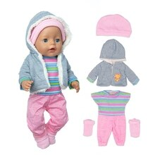 New lovely Plush suit Wear For 43cm Baby Doll 17 Inch Born Babies Dolls Clothes And Accessories
