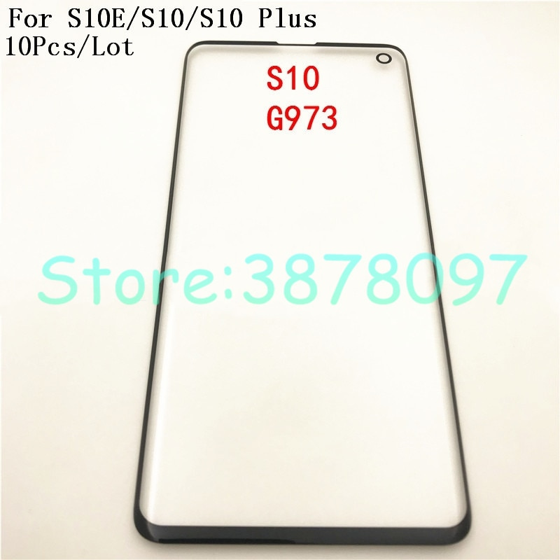 10 unids/lote para Samsung Galaxy S10e S10 G973 G973F S10 Plus G975 G975F cristal frontal LCD Panel exterior pantalla táctil + seguimiento