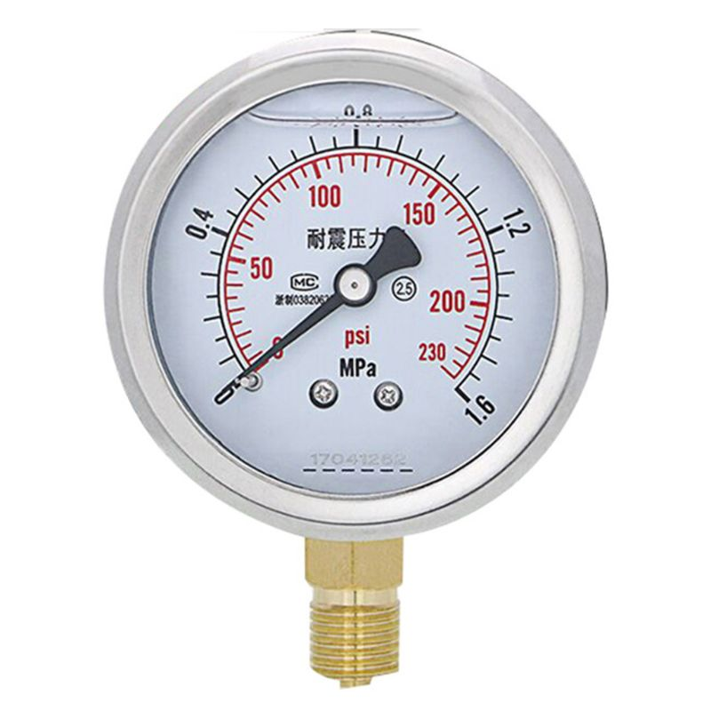 Manómetro Radial de acero inoxidable de 0-60MPa, manómetro de alta precisión para agua y aceite, 7XEA