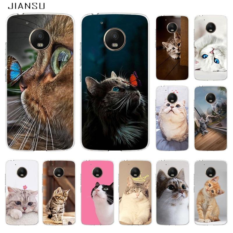 Lindo y encantador gato cubierta de lujo para Moto G5 G5S G6...