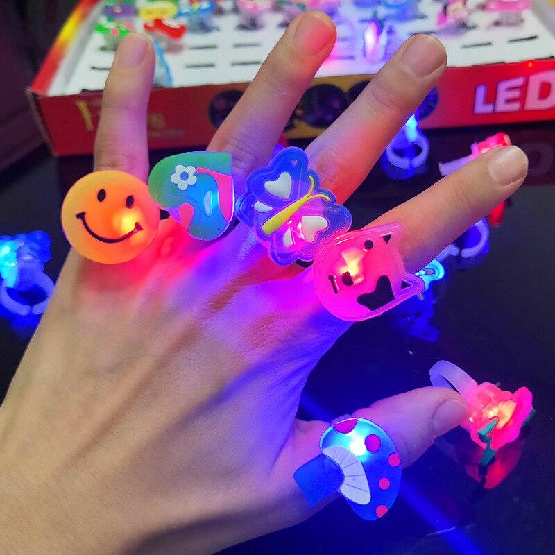 5 шт./компл. светящиеся кольца, звезды, светящиеся в темноте, детские игрушки, светящиеся светодиодные Мультяшные огни, светящиеся в темноте ...