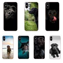 Hello Pretty Black Lab Labrador Puppy Dog Art Skin Thin For Samsung Galaxy A51 A71 A81 A90 5G A91 A01 S11 S11E S20 Plus Ultra