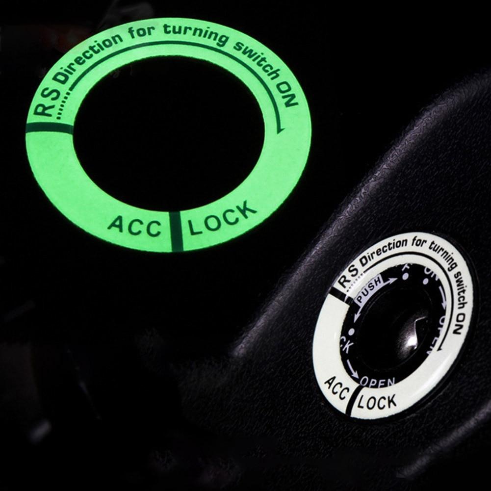 Pegatina de anillo de coche luminoso interruptor de encendido para Chevrolet Blazer Traverse Tahoe Equinox Trax Sonic FNR-X Bolt