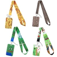 sp1216 cute animal giraffe cartoon neck strap lanyard card holder badge phone key ring id name card badge holder office supplies