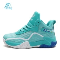 couples summer professional non slip breathable anti cracking shock absorption flexible boys and girls outdoor basketball shoes