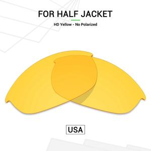 Mryok Polycarbonate Replacement Lenses (from USA) for Oakley Half Jacket Sunglasses HD Yellow