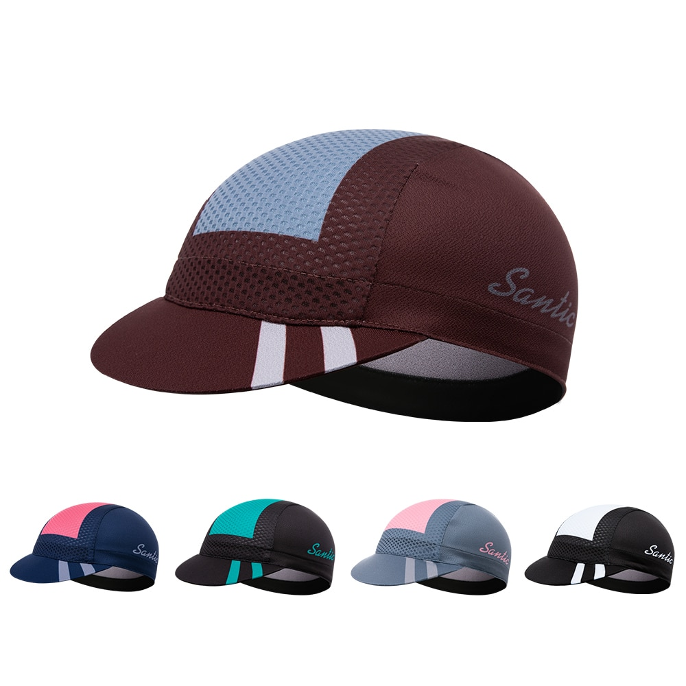 Купить с кэшбэком Santic Cycling Caps Unisex Summer Men Breathable Adjustable MTB Bike Hats Women Lightweight Sweat Absorbent Sports Sun Headgear