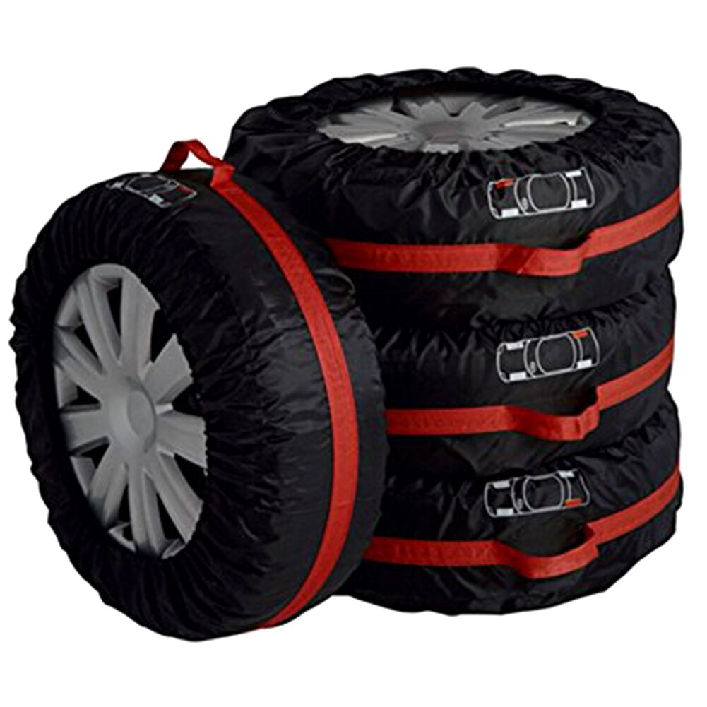 4 Uds funda de neumático de repuesto poliéster invierno y neumático de coche de verano bolsas de almacenamiento accesorios de neumáticos de coche Protector de rueda de vehículo caliente