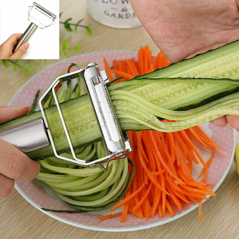 Nueva cortadora Manual de vegetales helicóptero máquina de cortar limón rallador de queso de acero inoxidable patata cortador de virutas de herramienta de cocina