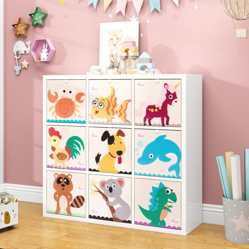 aliexpress.com - Cube kindergarten Children Storage Box Cartoon Animal Folding Storage Bins Wardrobe Drawer Clothes Basket Kids Toys Organizer