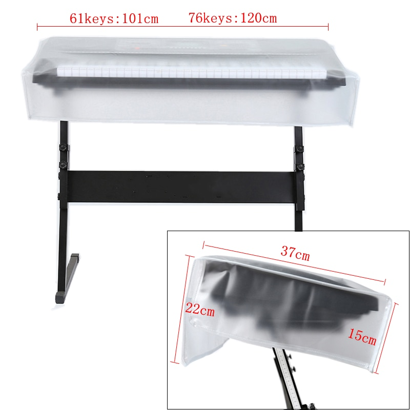 61 / 76 / 88 Keyboards  Electronic Organ Dust Cover Piano Transparent Grind Arenaceous Waterproof Protect Bag enlarge