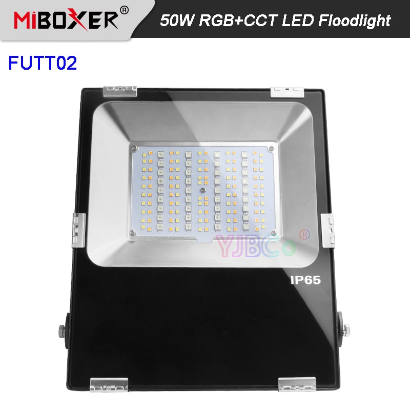 Miboxer AC 110V-220V 50W RGB+CCT LED Floodlight Waterproof IP65 RGB LED Outdoor Light Garden lamp for Green space/Park FUTT02