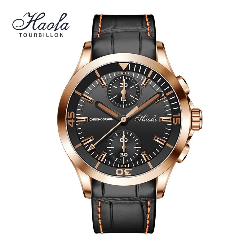 Men's Fashion Luxury Automatic Chronograph Sapphire Wrist Watch For Men Mechanical Skeleton Automati