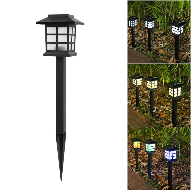 Водонепроницаемые светодиодные фонари на солнечной батарее, уличная лампа для освещения сада, ландшафта, двора, газона, патио, подъездной д...