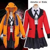 anime clothes jabami yumeko yomoduki runa cosplay costume hoodie skirt wig comics girl woman adult kids suit school jk uniform