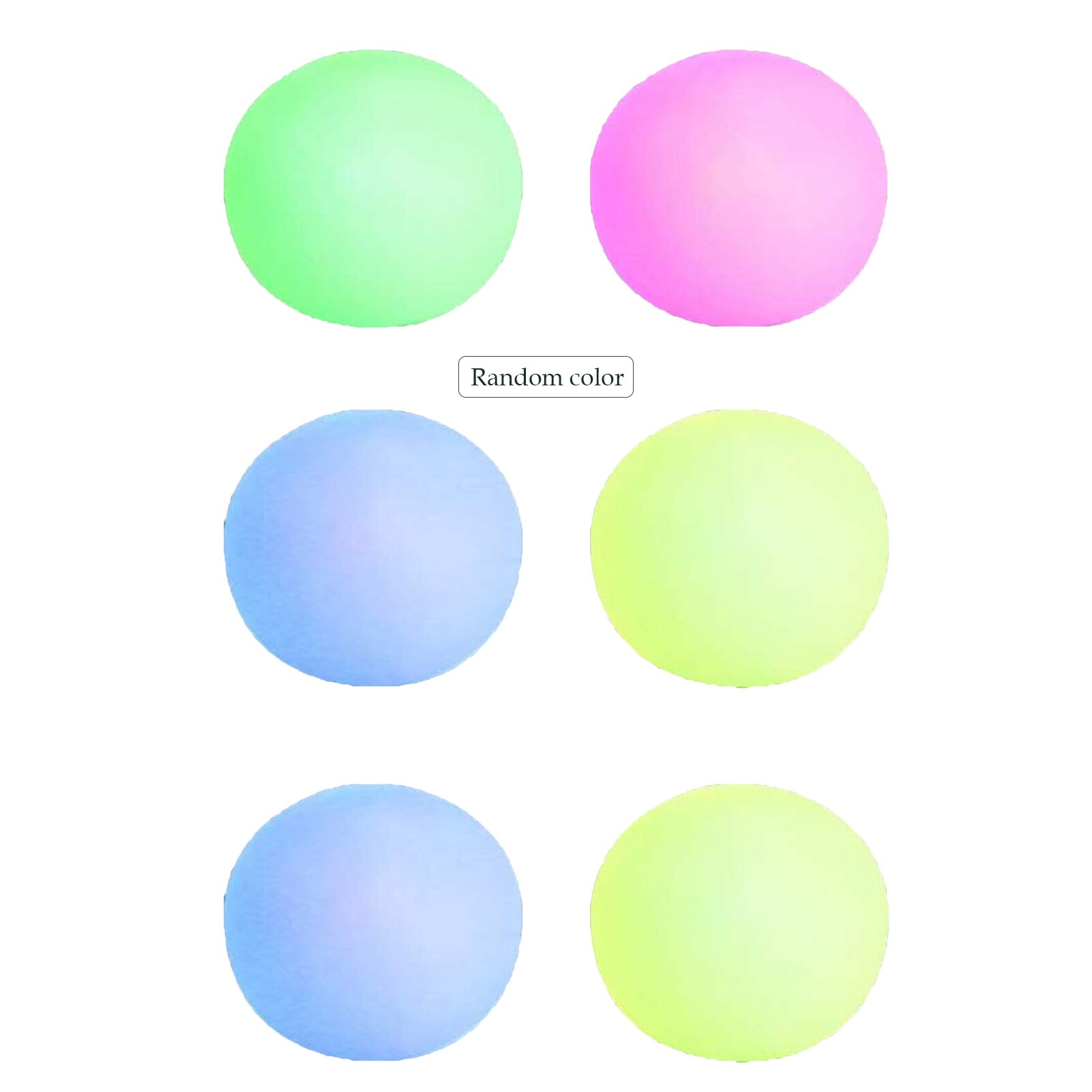 1PC Novelty Glowing Stress Ball Fidget Toy Squeeze Toy Luminous Decompression Ball Throw Toy Stress Relief Balls For Adults Kids enlarge
