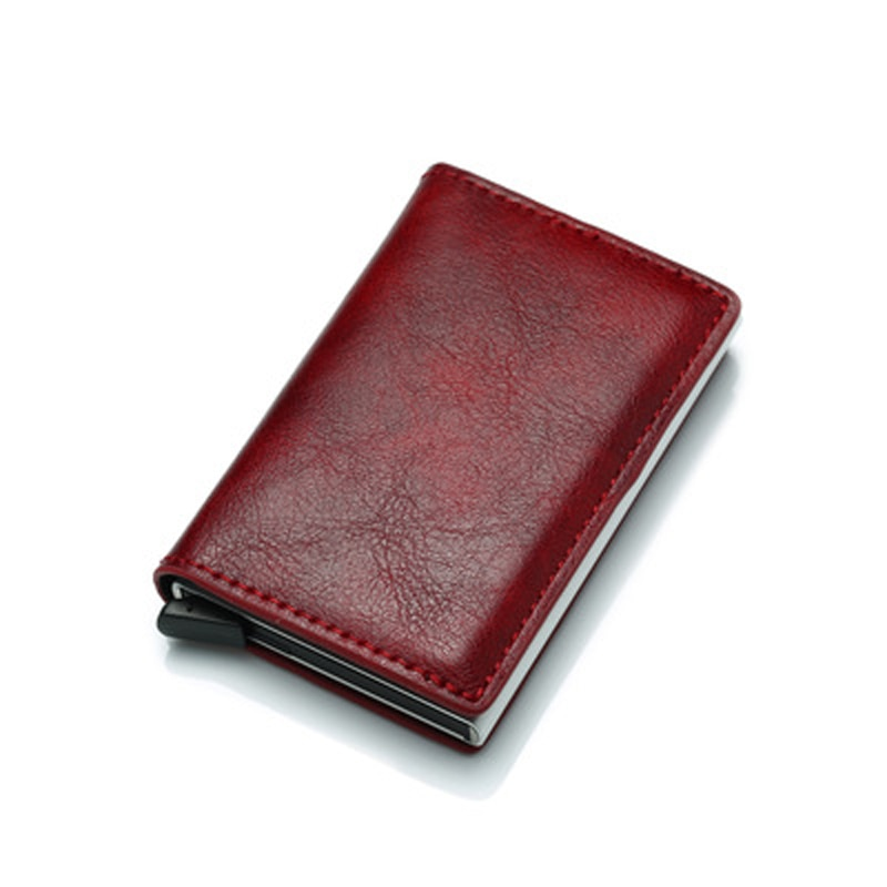 Pu Leather Card Holder Wallet Unisex Ultra-thin Mini Wallet Small Purse Clutch