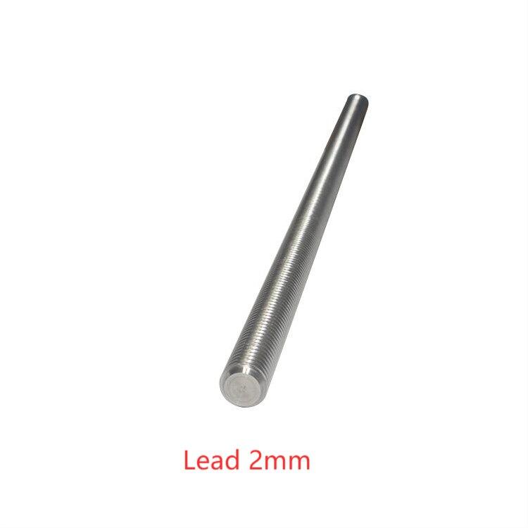 304 aco inoxidavel t12 comprimento do parafuso 700mm chumbo 2mm 3mm 8mm eixo trapezoidal 1 pecas