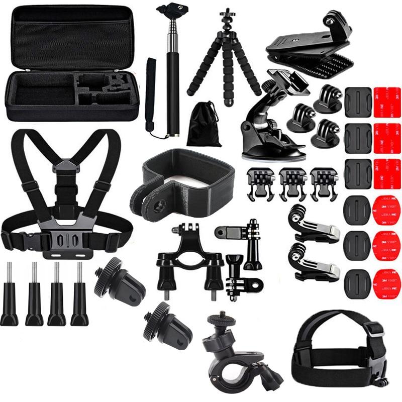 40 в 1, комплект карманной камеры, штатив с зажимом, селфи-палка, винтовой ремешок, кронштейн, портативный чехол, сумка для FIMI, аксессуары для камеры