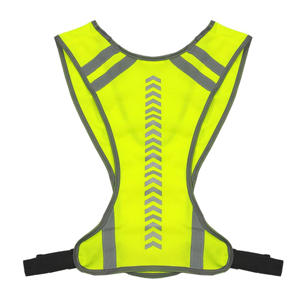 Outdoor Night Riding Running Reflective Vest Safety Security Sports Vest Night Bicycle Cycling Riding Jogging Vest Guiding Light outdoor cap reflective baseball hat night running and riding safety