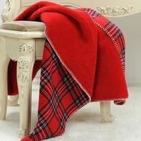 winter warm wool plaid bed sofa blankets vintage sheep velvet throw blanket flannel scottish grid plush blanket